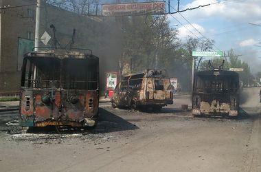 В Краматорске тихо, в центре стоят сожженные троллейбусы и маршрутки – очевидец