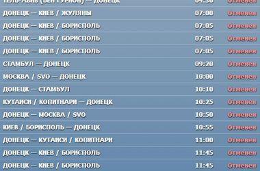 Донецкий аэропорт закрыт