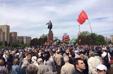 День Победы в Харькове: большая георгиевская лента и пророссийские лозунги