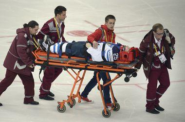 У финна после приема российского хоккеиста диагностировали сотрясение мозга