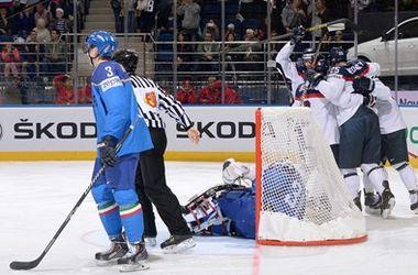 Хоккеисты сборной Словакии обыграли итальянцев на чемпионате мира