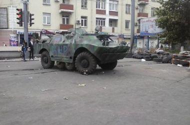 На Луганщине террористы похитили БРДМ пожарных