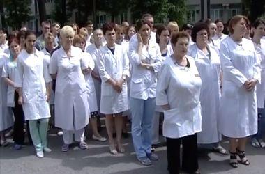 """Акцию """"Голос Донбасса"""" против насилия и бандитизма поддержали местные медики"""
