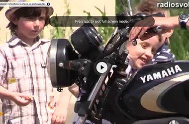 Байкеры покатали детей с особыми потребностями на мотоциклах