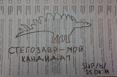 Испорченные бюллетени: выбрали стегозавра и Путина
