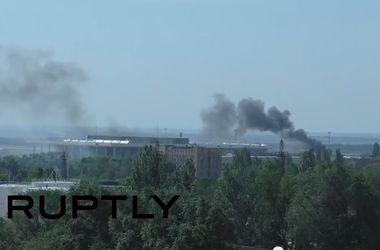 В сети появилось видео обстрела с воздуха позиций террористов в Донецке