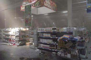 """Гипермаркет """"Метро"""" в Донецке после разгрома"""