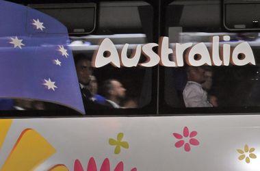 Сборная Австралии первой прибыла на ЧМ-2014 в Бразилию