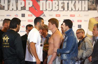 Боксер Чарр оказался на 10 кг тяжелее Поветкина