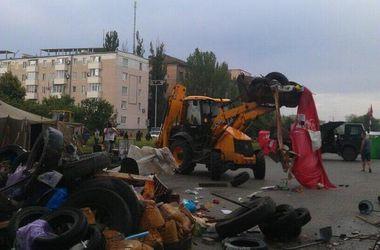 Возле ОГА Донецка сносят баррикады