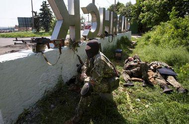 Террористы обстреляли блокпост под Славянском и колонну сил АТО