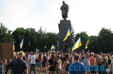В Харькове на вече Евромайдана обсудили судьбу Добкина и российского бензина