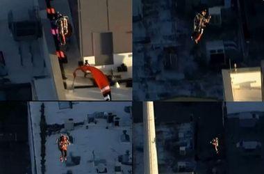 Американец с реактивным ранцем прыгнул с крыши 45-этажного здания
