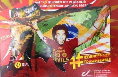 Игрок сборной Бельгии попал на почтовые открытки