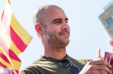 Пеп Гвардиола принял участие в митинге за независимость Каталонии