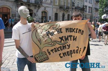 Во Львове борются со зловонием: активисты принесли мэру скунса