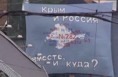 В Москве вывесили баннер против аннексии Крыма