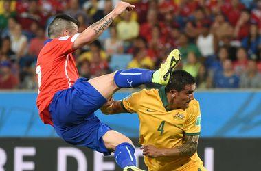 Эффектные кадры с матча Чили - Австралия