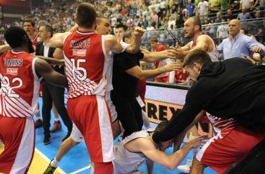 В финале чемпионата Сербии произошла массовая драка баскетболистов