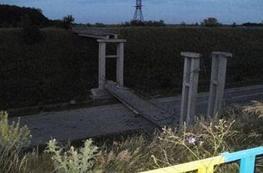 Возле Станицы Луганской террористы взорвали мост