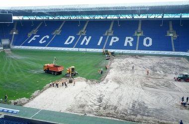 """""""Днепр"""" начал замену газона на своем стадионе"""