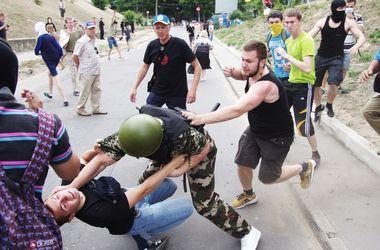 Драка возле консульства России в Одессе
