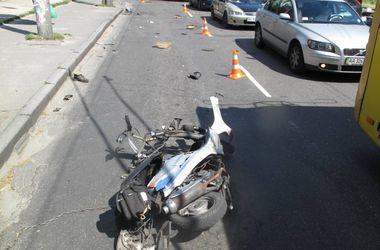 В столице погиб скутерист-пенсионер