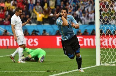 Дубль Луиса Суареса приносит победу Уругваю над Англией