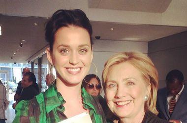 Кэти Перри предложила Хилари Клинтон записать песню