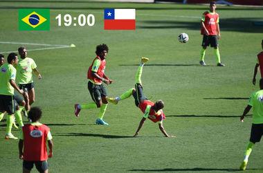 Онлайн матча Бразилия - Чили