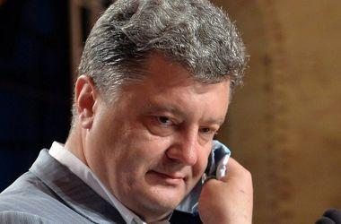 Петр  Порошенко  провел   переговоры с Ангелой Меркель, Франсуа Олландом и Владимиром Путиным