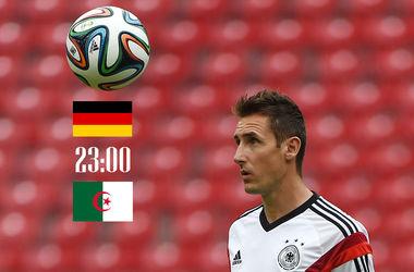 Онлайн матча Германия - Алжир