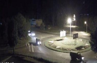В Луганск въехала колонна военной техники террористов