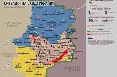 Ситуация в зоне АТО: 2 июля (карта)