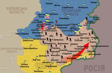 Где идут самые ожесточенные бои на Востоке Украины: карта