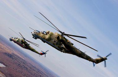 В Украину влетели три российских боевых вертолета – Нацгвардия