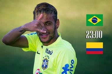 Онлайн матча Бразилия - Колумбия