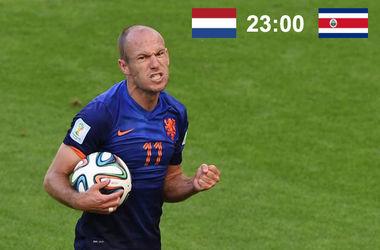 Онлайн матча Голландия - Коста-Рика