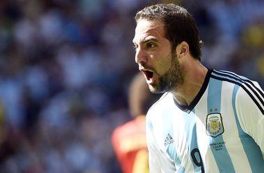 Гол Игуаина выводит Аргентину в полуфинал ЧМ-2014