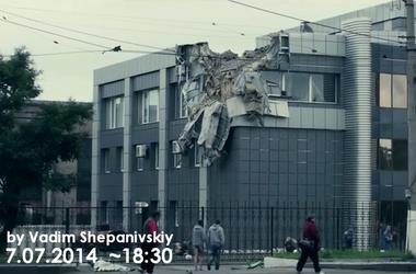Ужасные последствия артобстрела в Луганске