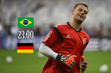 Онлайн матча Бразилия - Германия