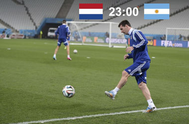 Онлайн матча Голландия - Аргентина