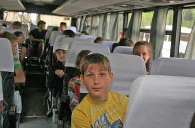 Детей из зоны конфликта отправили на отдых в Херсонскую область