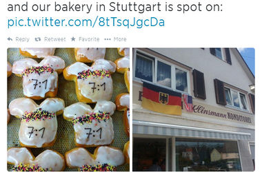 В пекарне Клинсманна испекли пирожные в честь разгрома Бразилии