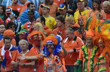 Украинские болельщики на полуфинале чемпионата мира