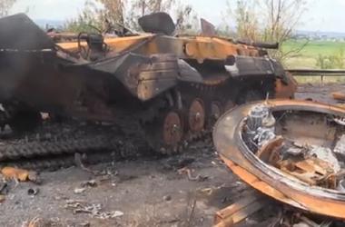 Что  осталось от бронетехники боевиков в Славянске