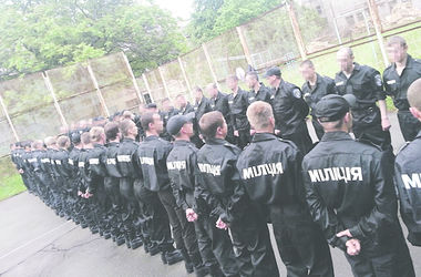 Киевские милиционеры вернулись из зоны АТО