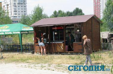 """Киоски с пивом и шашлыками массово """"переезжают"""" на киевские пляжи"""