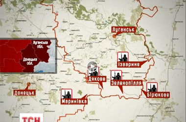 Карта военных действий на Востоке: бои проходят близ границы с РФ