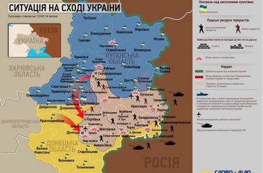 Карта боевых действий АТО: 14 июля